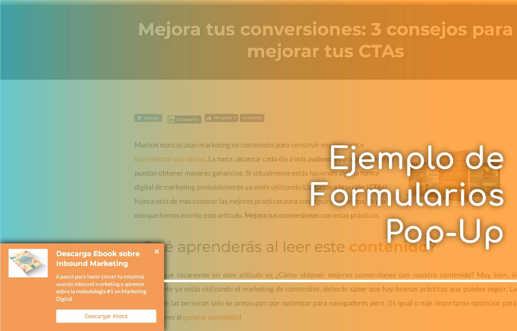 formularios pop up para convertir