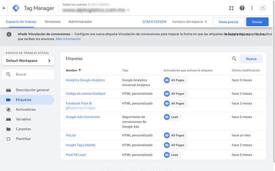 Pixeles con Google TagManager