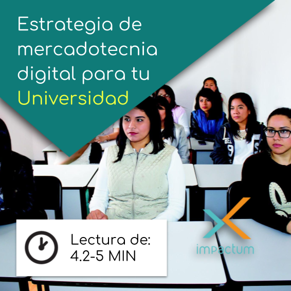 Estrategia de mercadotecnia digital para tu Universidad